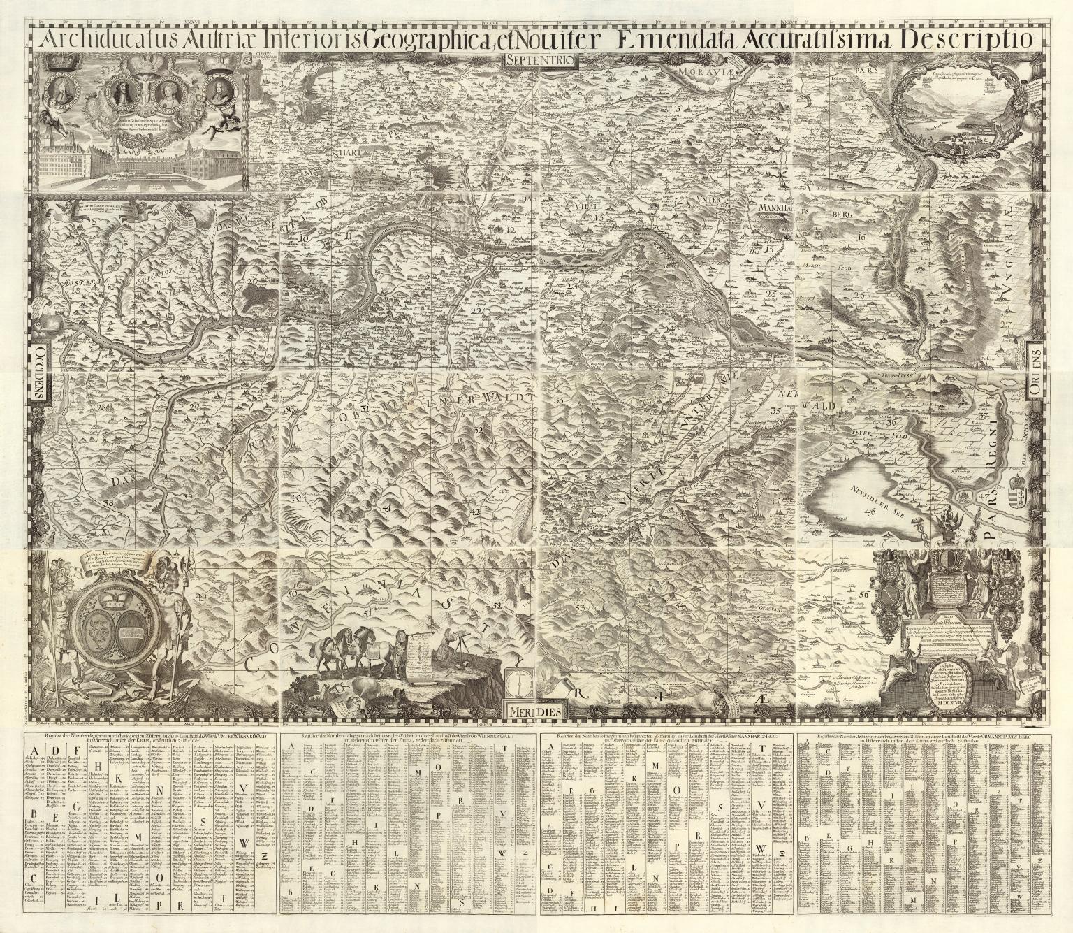 Composite map: Sheets 1-20. Archiducatus Austriae inferioris