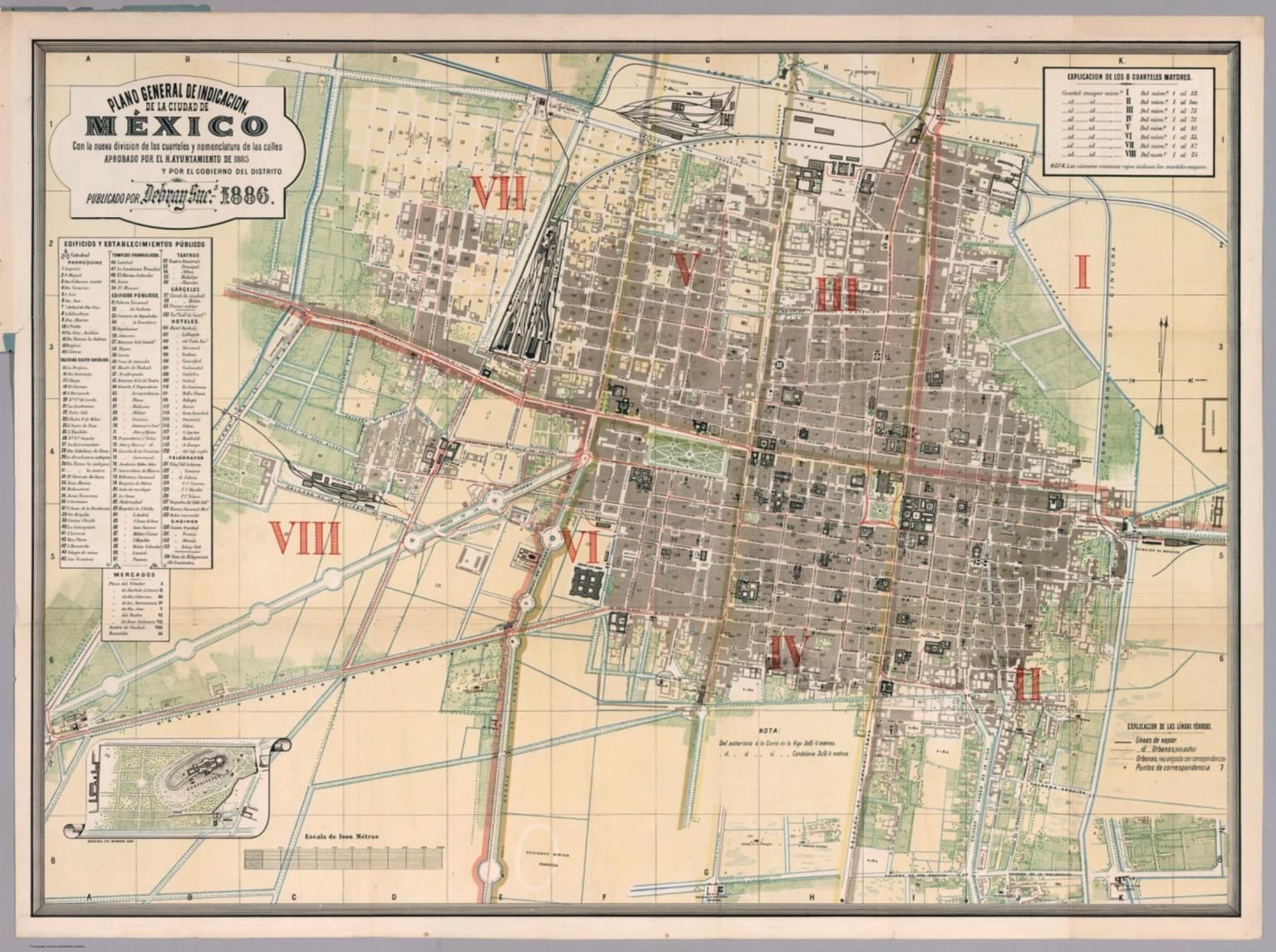 Plano general de indicacion de la Ciudad de Mexico