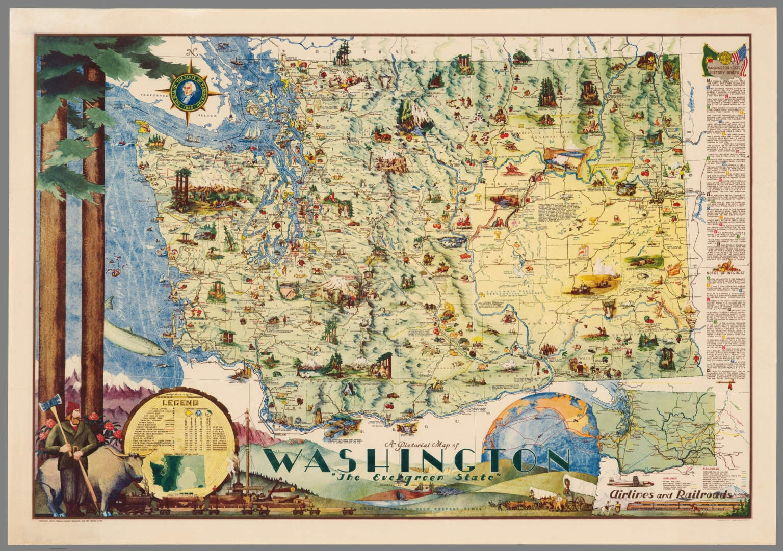 Pictorial Map of Washington, \