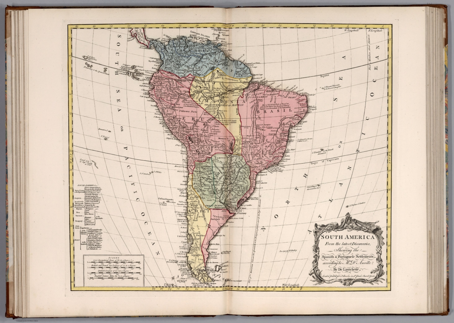 South America Shewing the Spanish & Portuguese Settlements ...