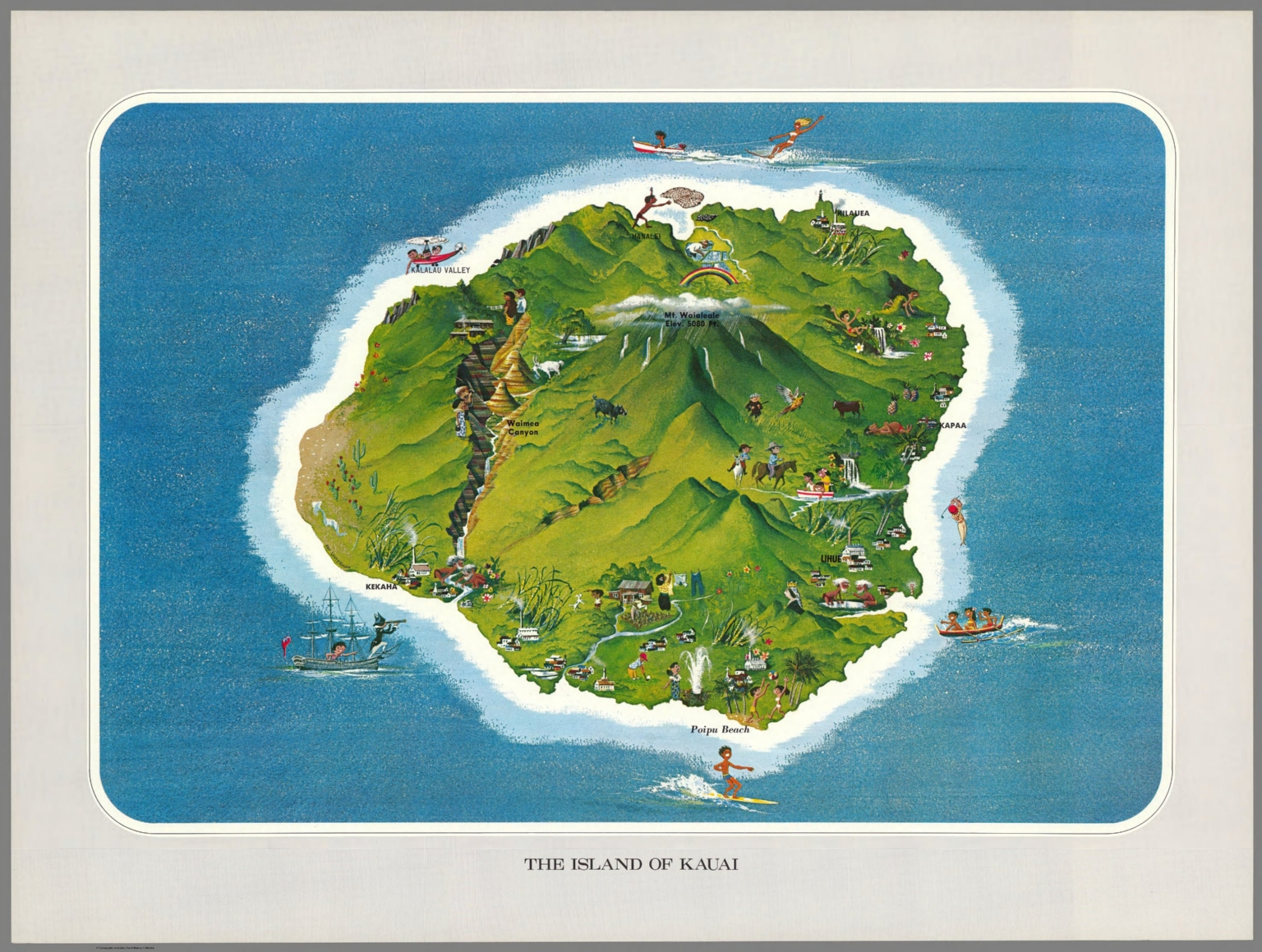 The Island Of Kauai David Rumsey Historical Map Collection