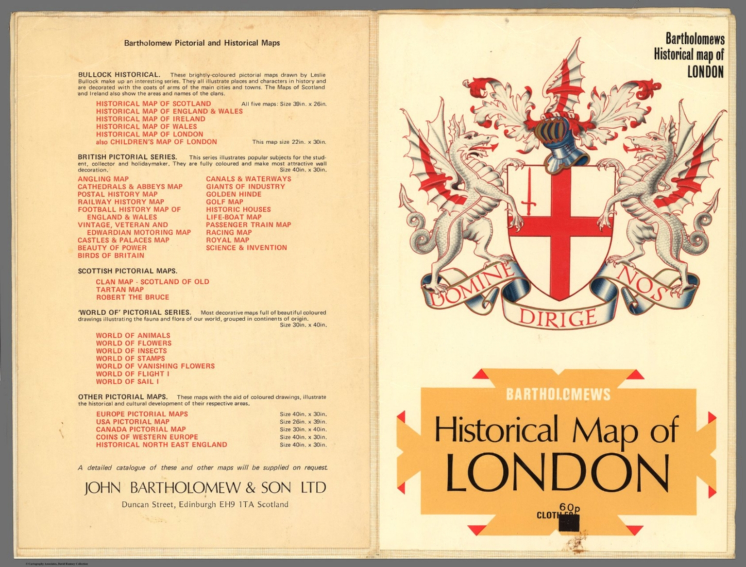 Covers: Bartholomews Historical Map of London  - David