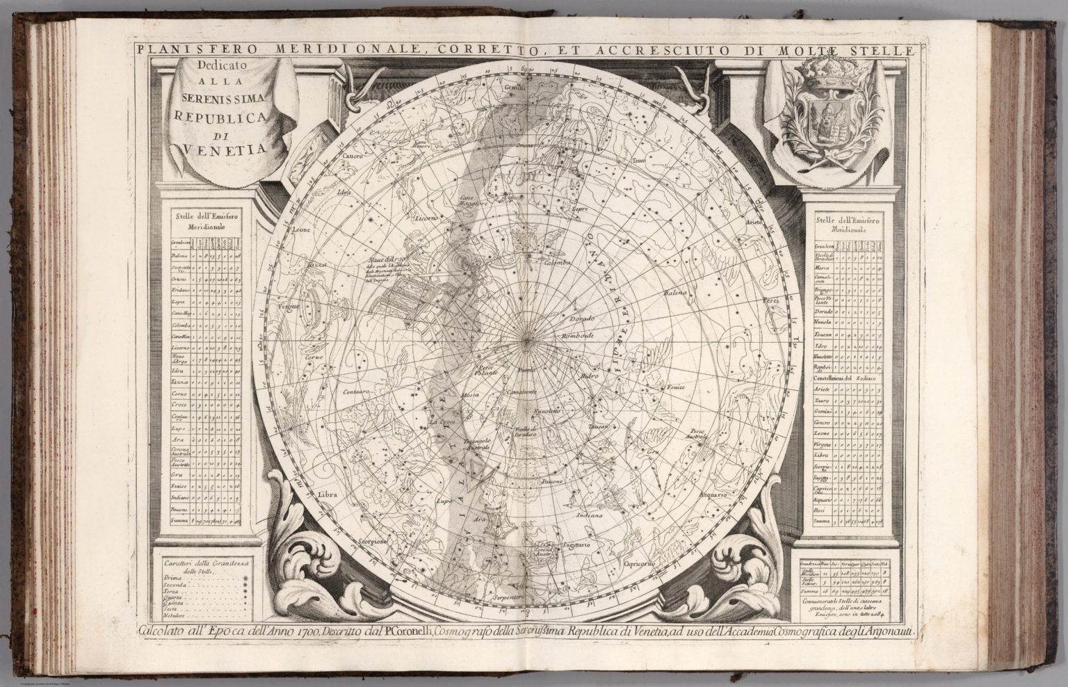 Planisfero Meridionale David Rumsey Historical Map Collection