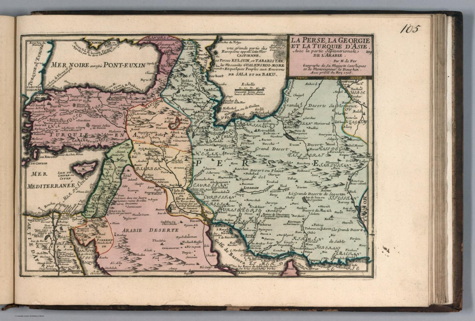 La Perse la Georgie et la Turquie d'Asie.