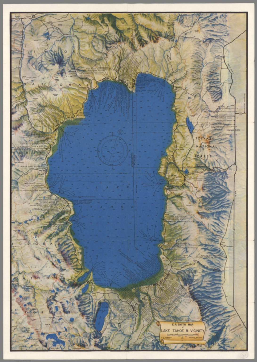 E.R. Smith map of Lake Tahoe & vicinity - David Rumsey Historical ...