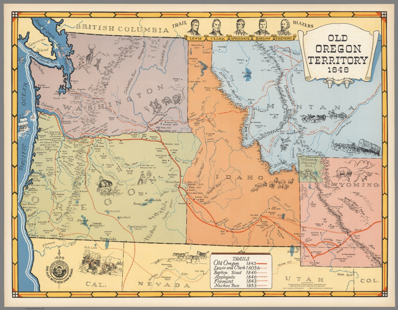 Old Oregon Territory 1848 David Rumsey Historical Map