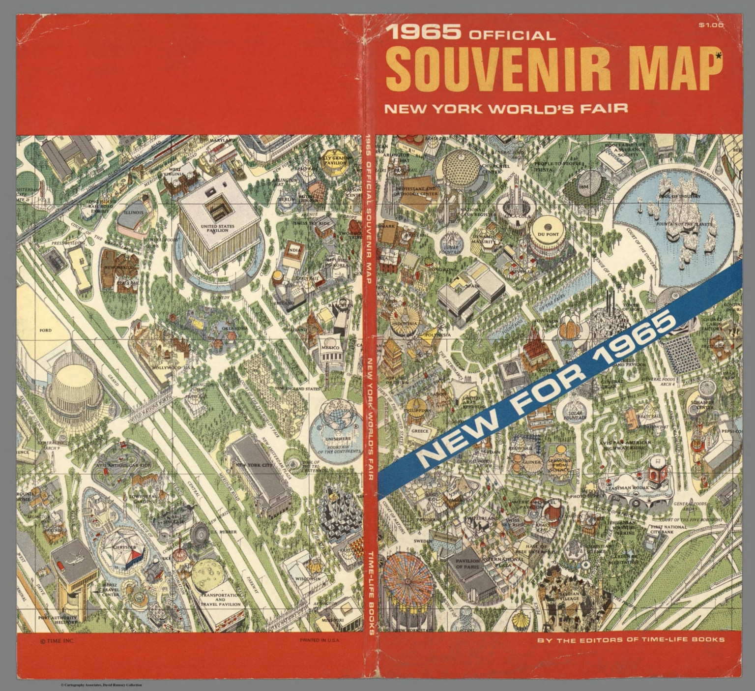 Covers: Official Souvenir Map, New York World\'s Fair, 1964/1965. By ...