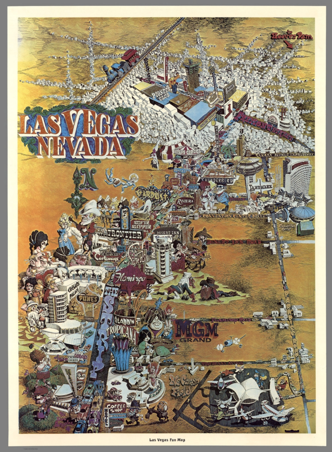 Las Vegas, Nevada. Las Vegas Fun Map. - David Rumsey Historical Map ...