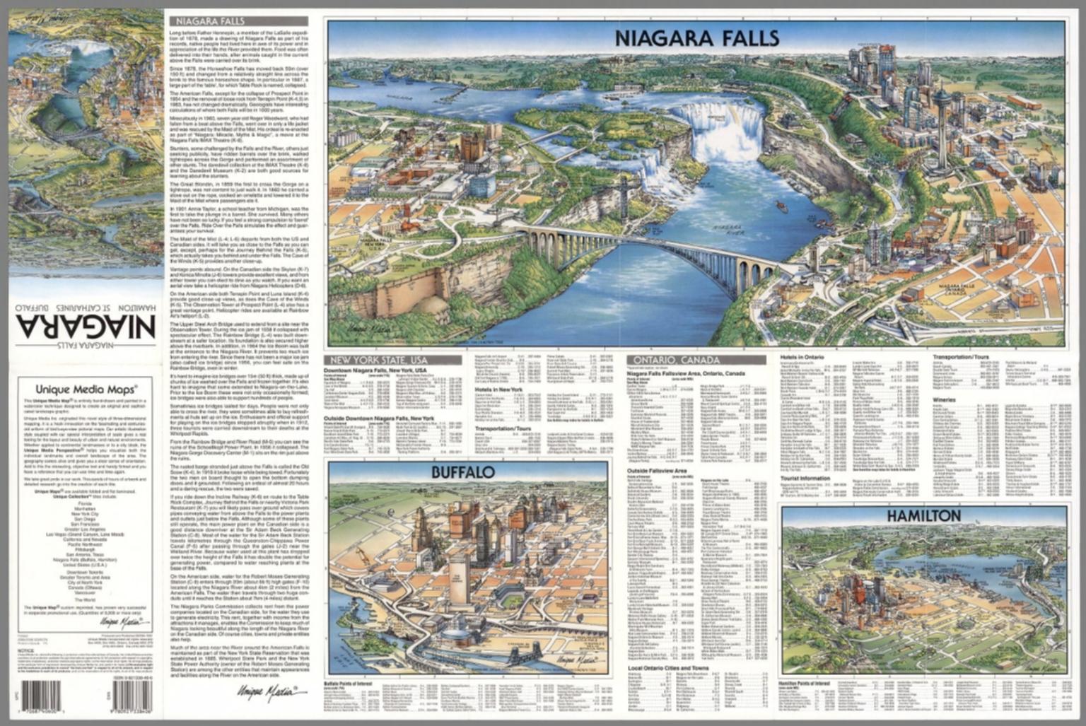 Niagara Falls Hamilton Buffalo David Rumsey Historical Map