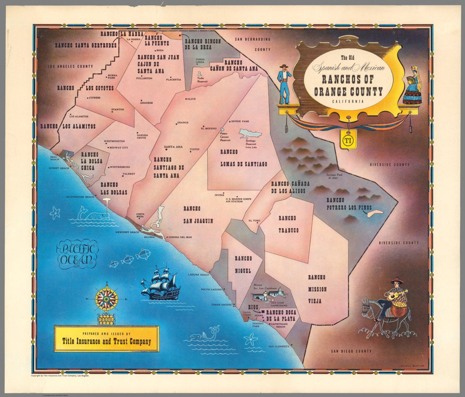 photograph about Printable Map of Orange County Ca named The Previous Spanish and Mexican Ranchos of Orange County
