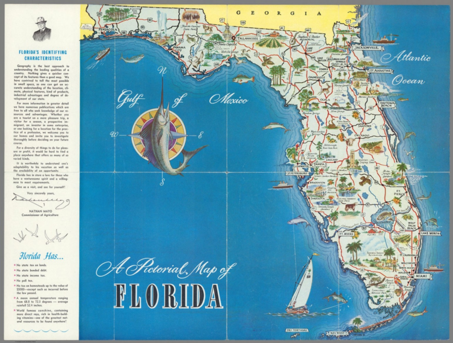 A Pictorial Map Of Florida David Rumsey Historical Map Collection