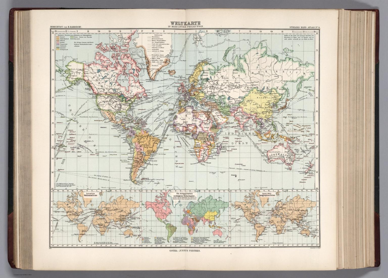 4 Weltkarte In Mercators Projektion David Rumsey Historical