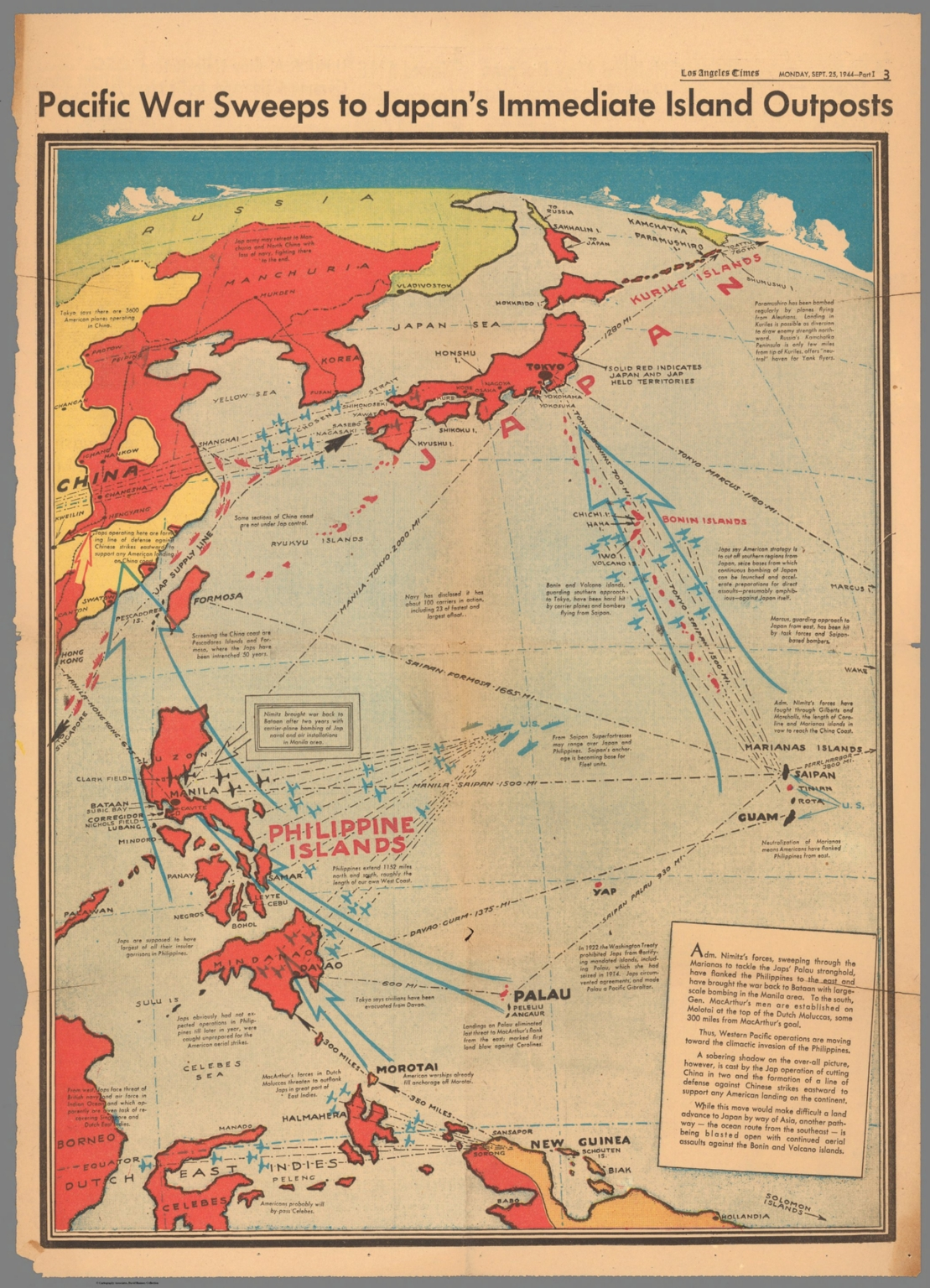 Pacific war sweeps to Japan\'s immediate islands outposts - David ...