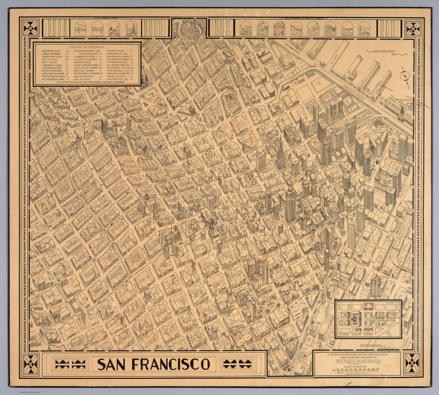 A birdseye panoramic map of San Francisco David Rumsey
