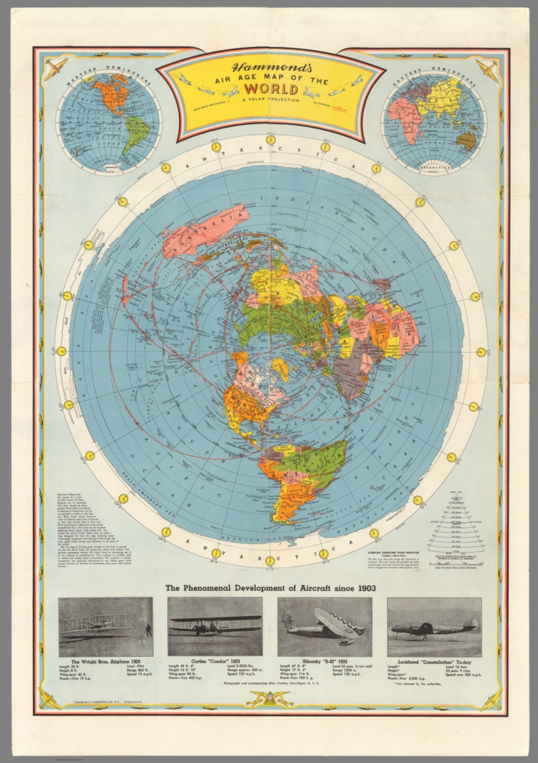Image of: Air Age Map Of The World David Rumsey Historical Map Collection