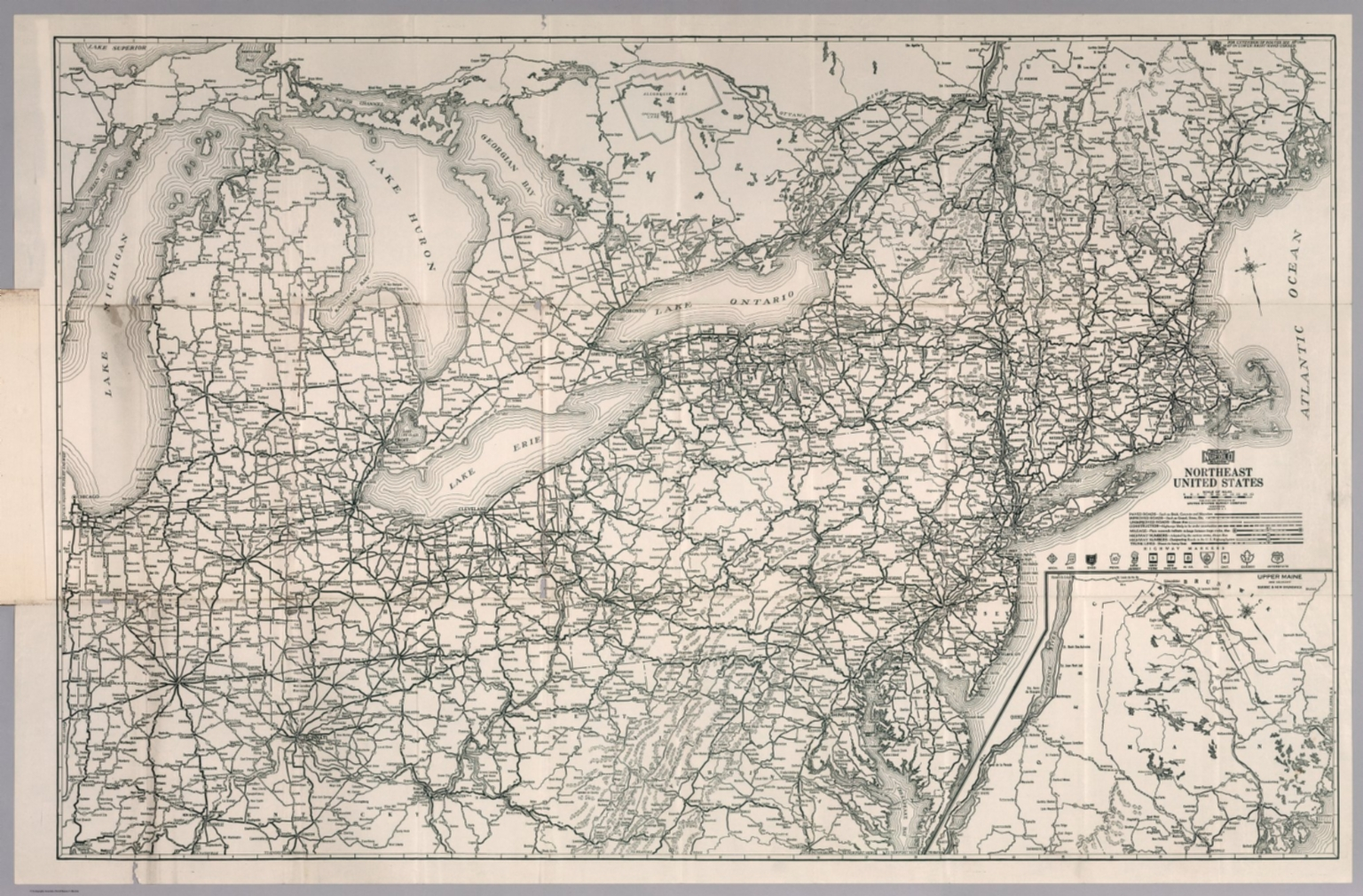 Picture of: Nufold Road Guide Northeast United States David Rumsey Historical Map Collection