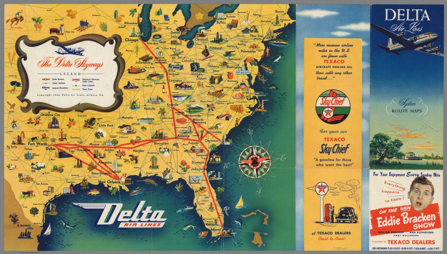 Delta Atlanta Map.Covers Delta Airlines System Route Maps David Rumsey Historical