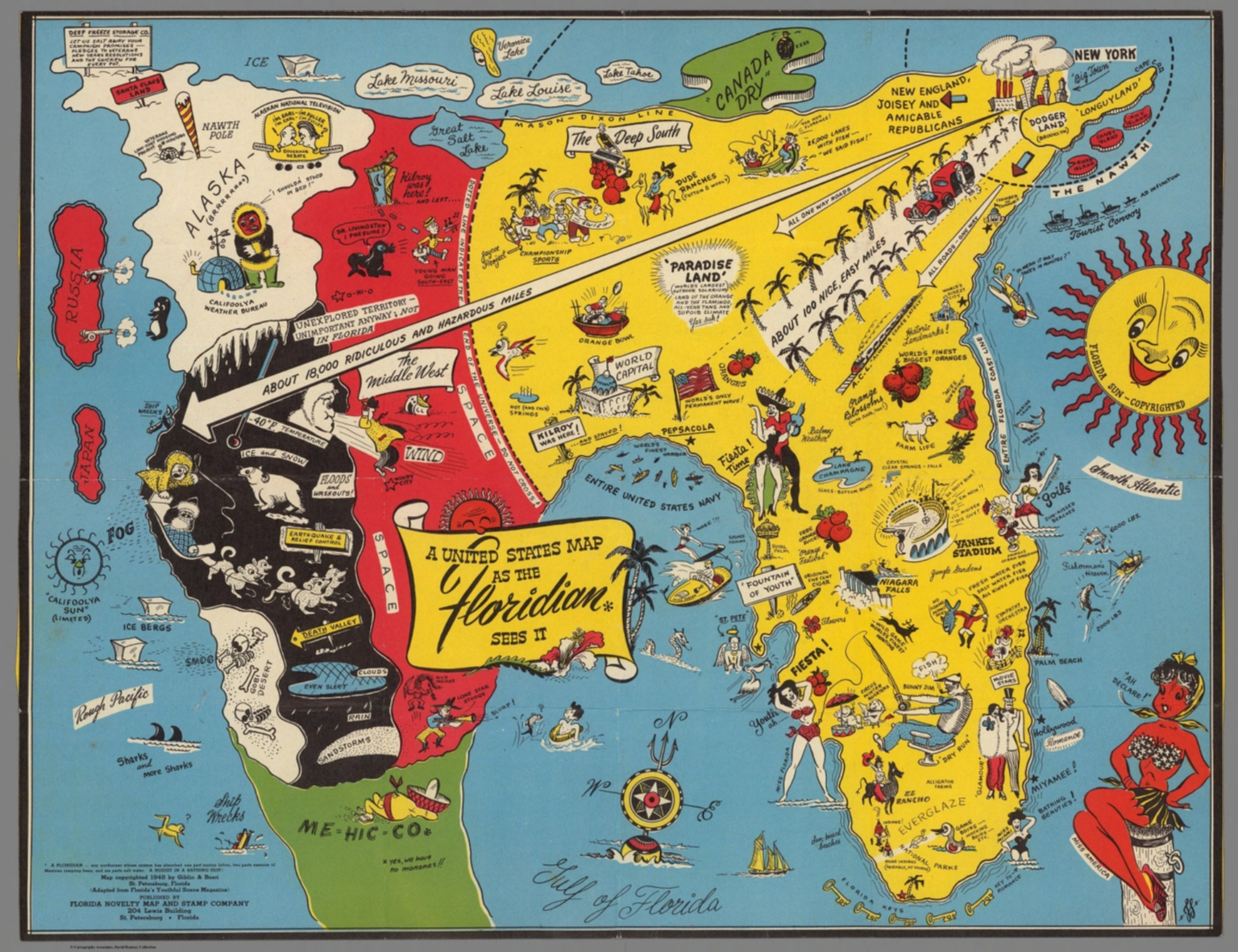 A United States map as the Floridian sees it - David Rumsey ...