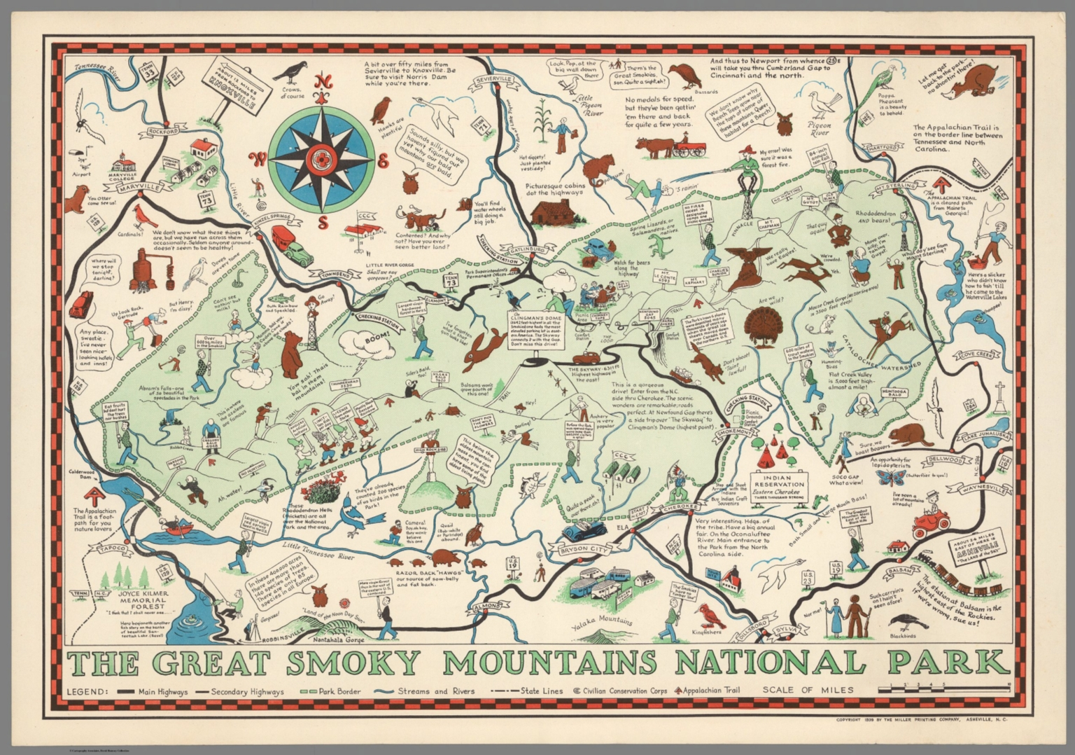 The Great Smoky Mountains National Park - David Rumsey Historical ...