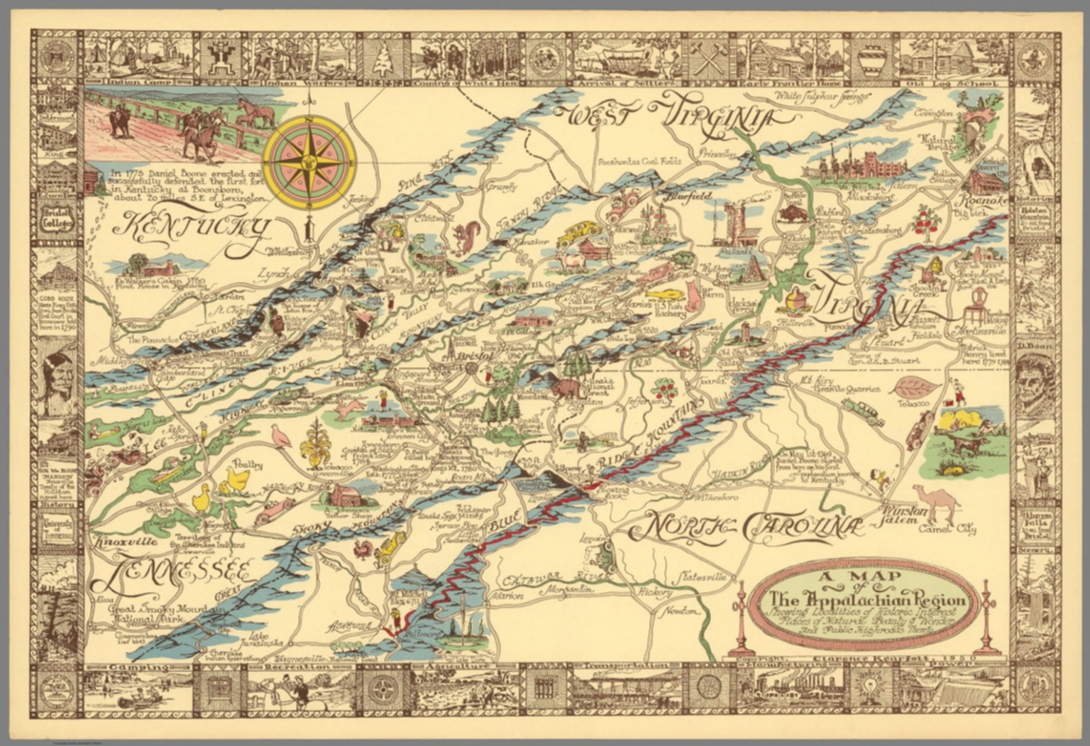 A Map Of The Appalachian Region David Rumsey Historical Map Collection - Appalachia map