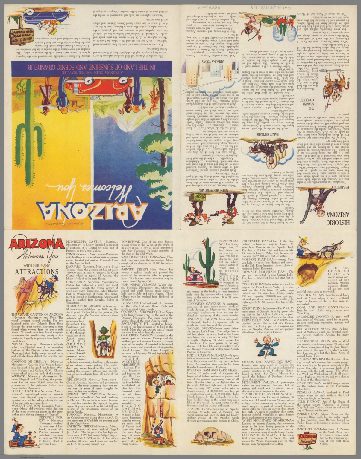 Text Page: Arizona welcome you - David Rumsey Historical Map Collection