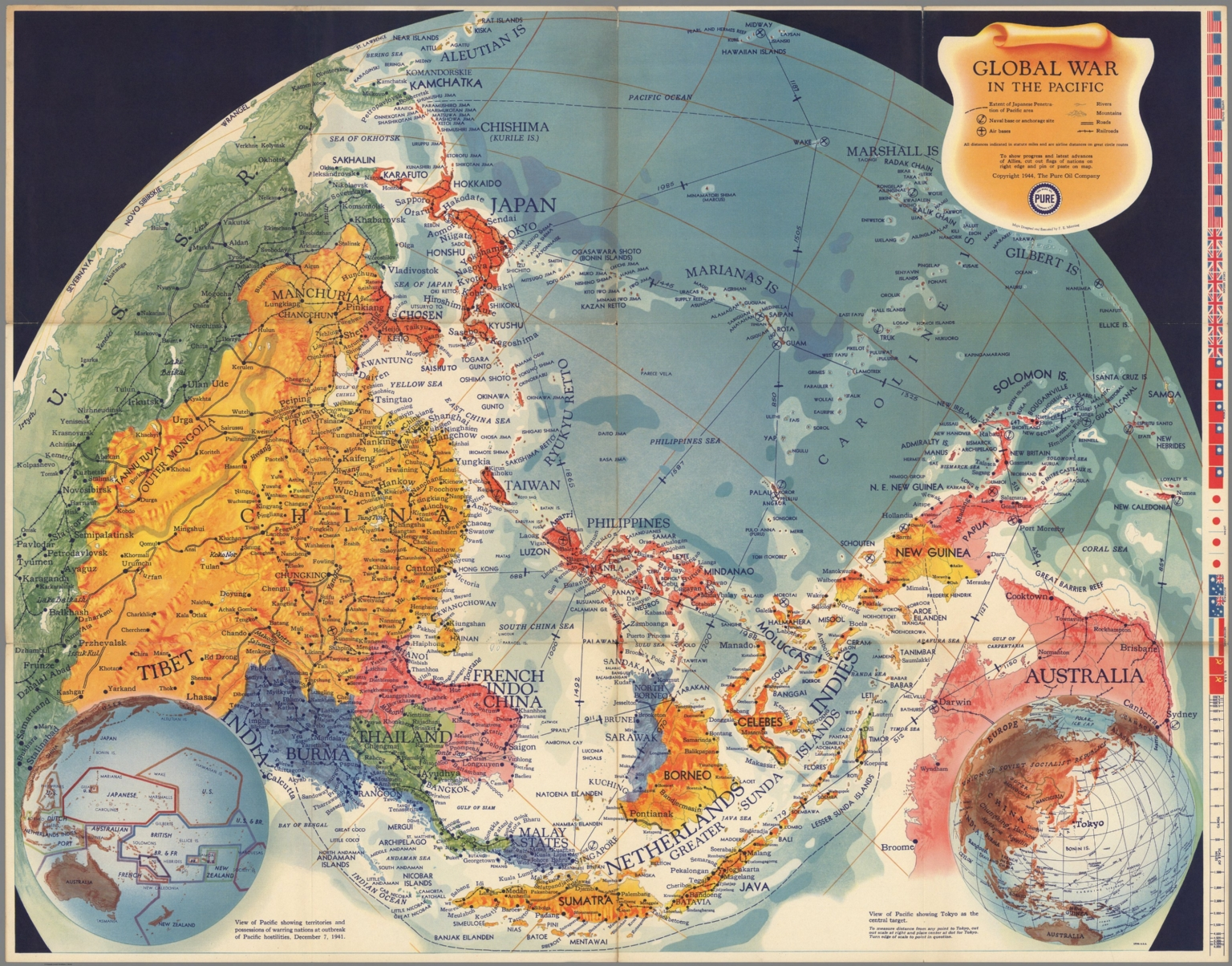 Global war in the Pacific - David Rumsey Historical Map Collection