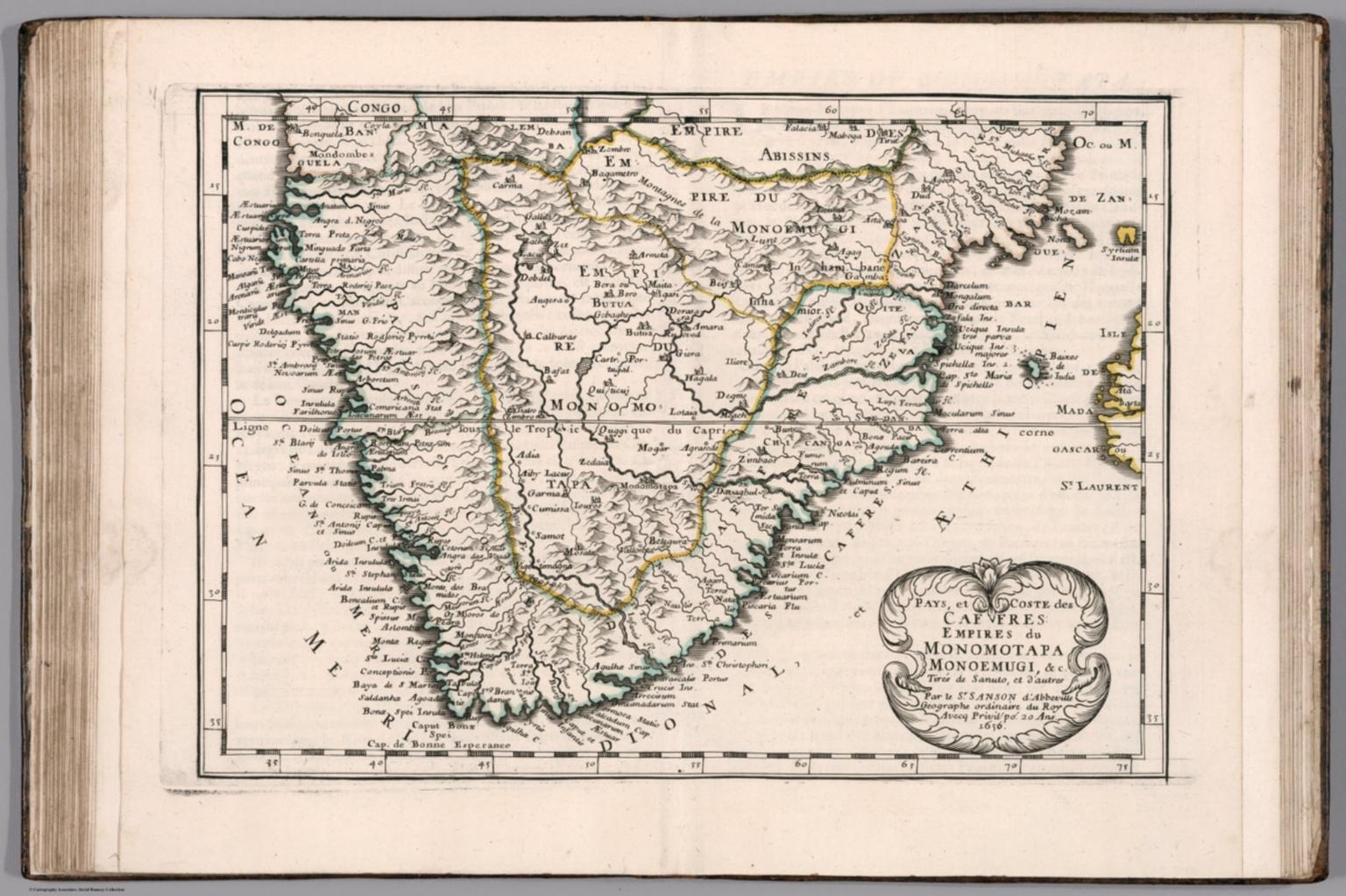 Pays, et Coste des Caffres: Empires de Monomotapa, Monoemugi, &c.
