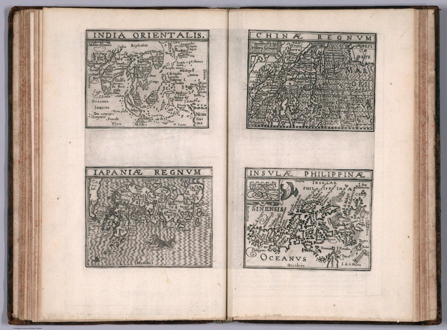 India Orientalis. Iapaniae regnum. Chinae regnum. Insulae Philippinae