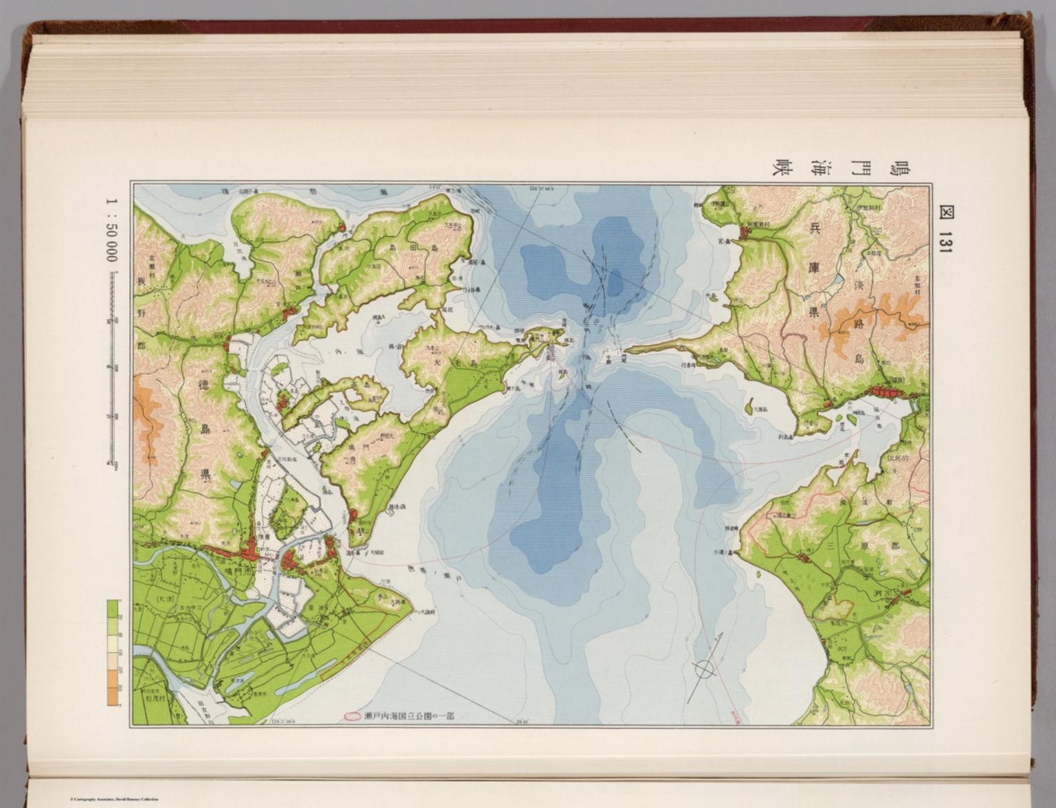 131 Naruto Strait, Japan - David Rumsey Historical Map