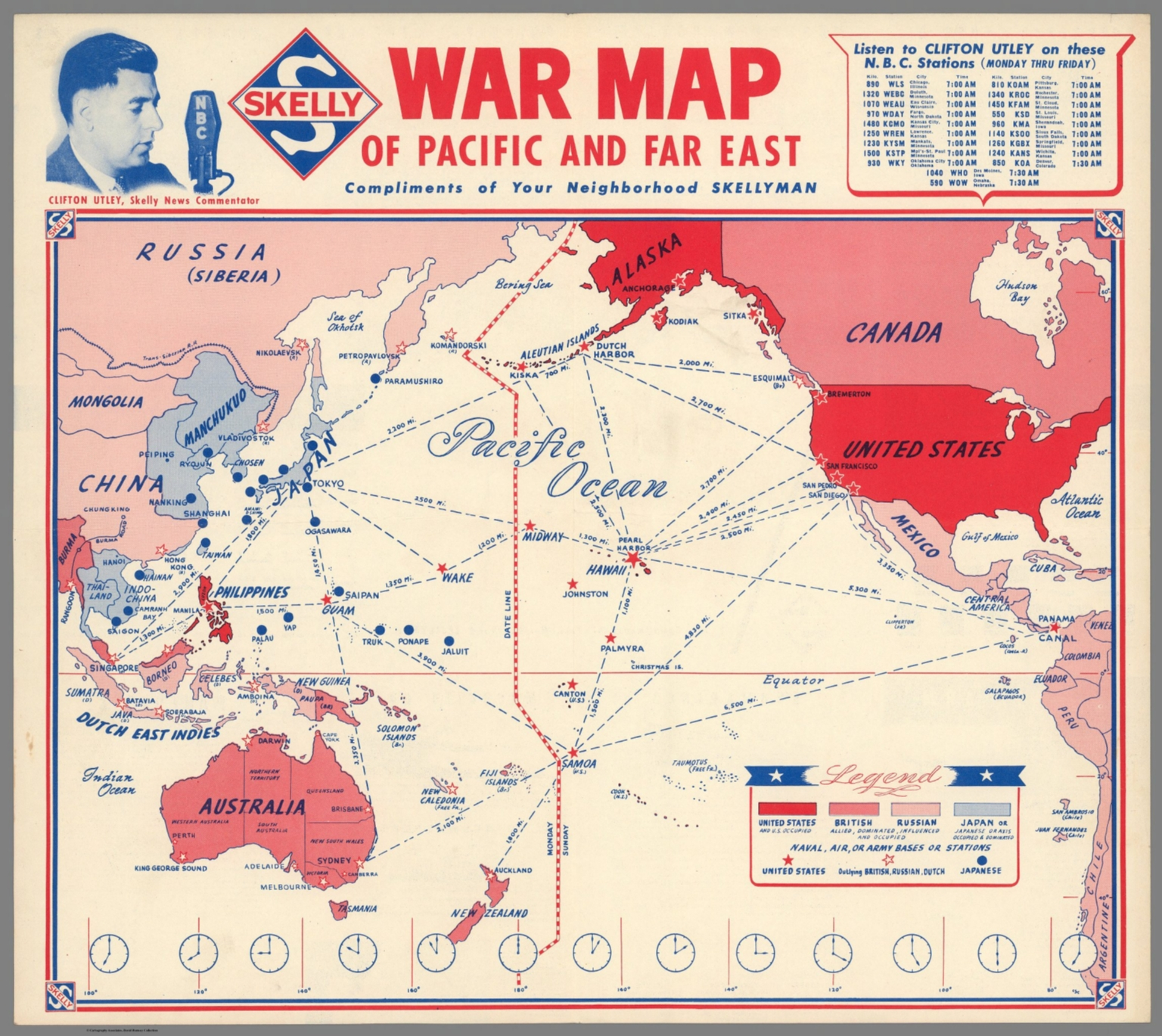 War map of the Pacific and Far East - David Rumsey Historical Map