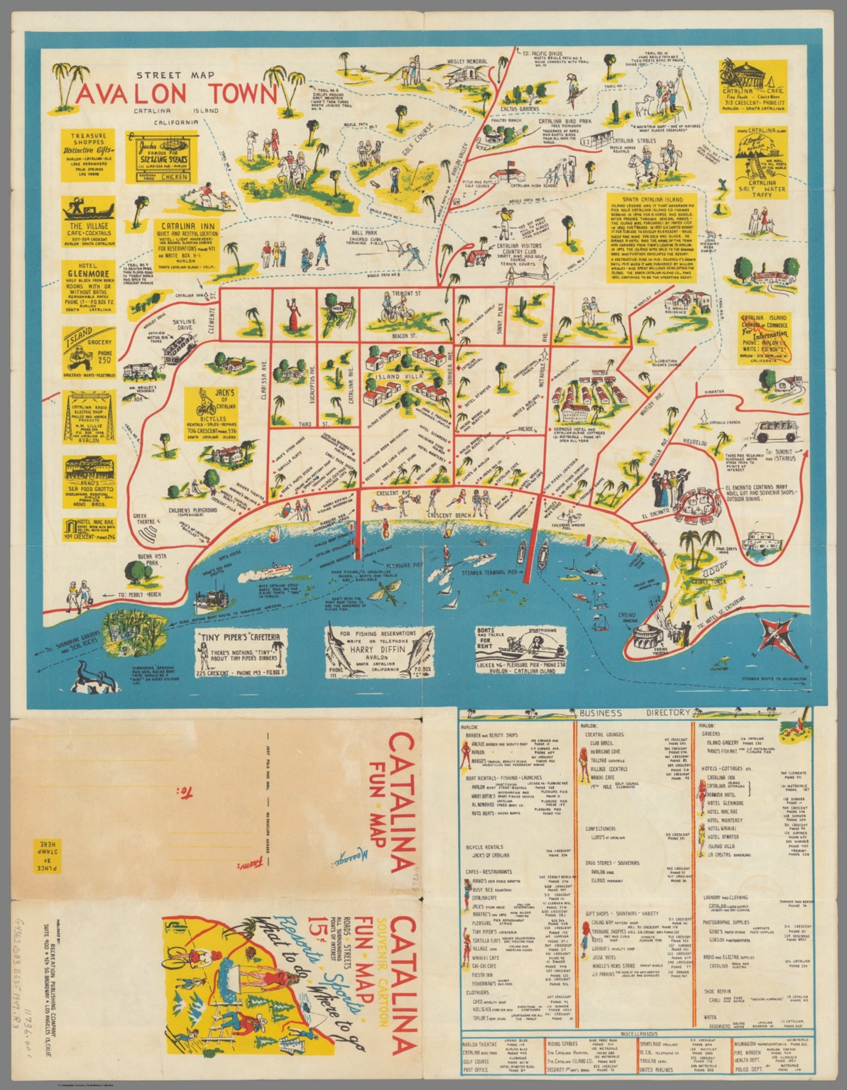 Street map : Avalon town Catalina Island California - David Rumsey on