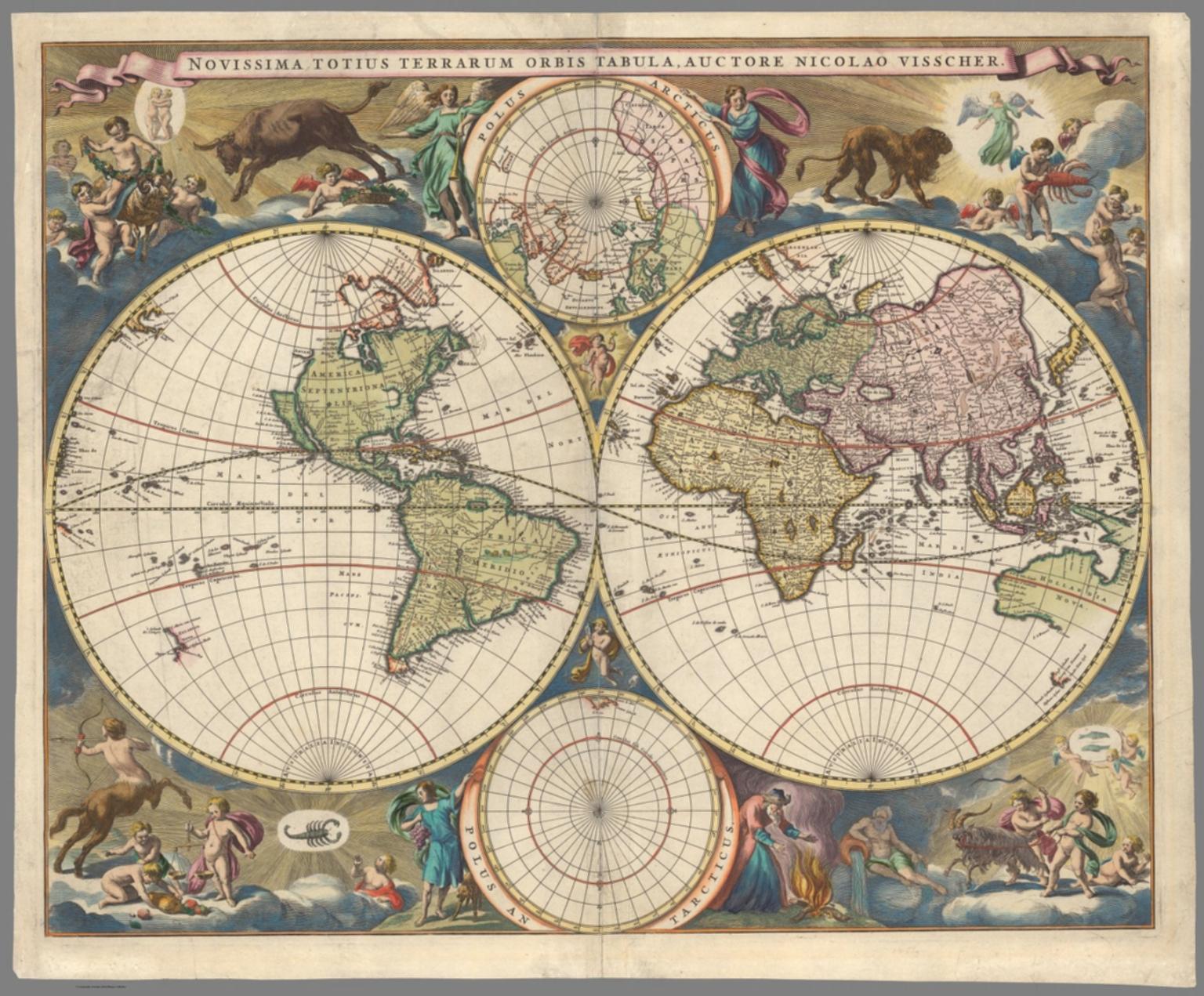 Novissima Totius Terrarum Orbis Tabula, Auctore Nicolao Visscher