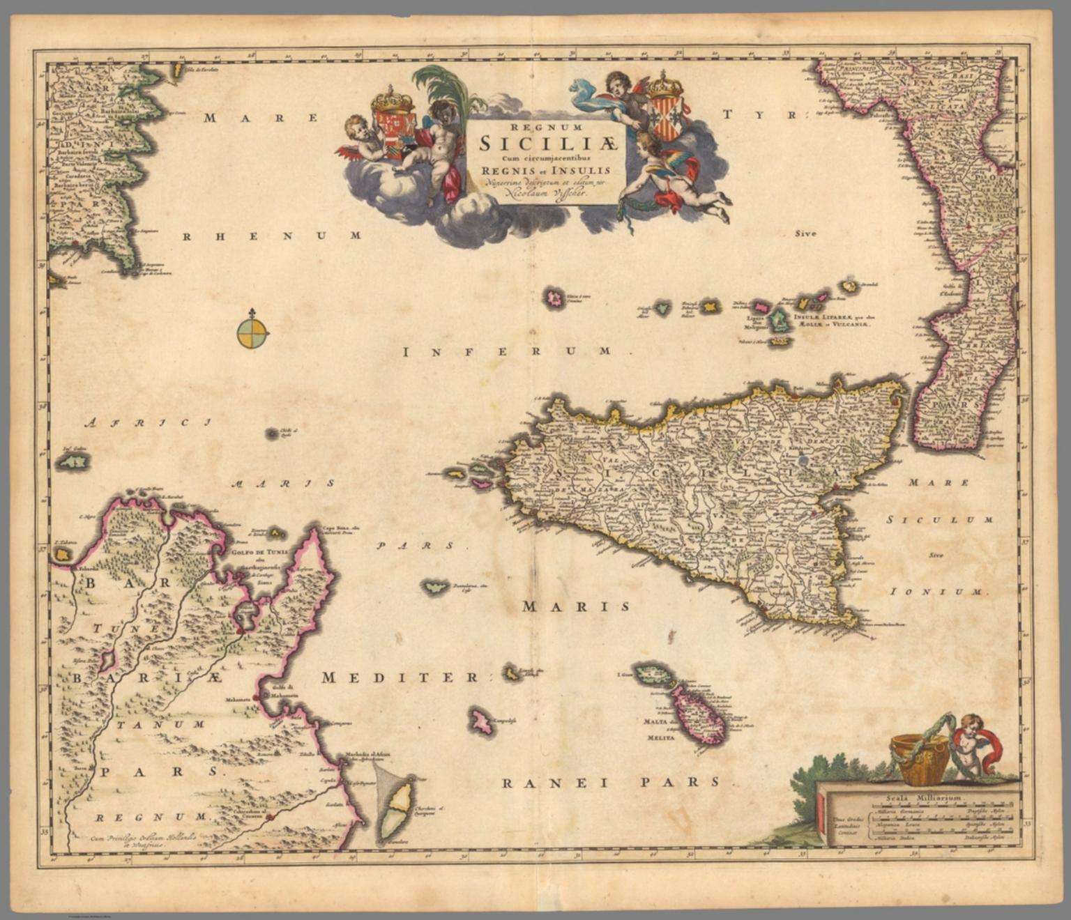 Regnum Siciliae Cum circumiacentibus Regnis et Insulis