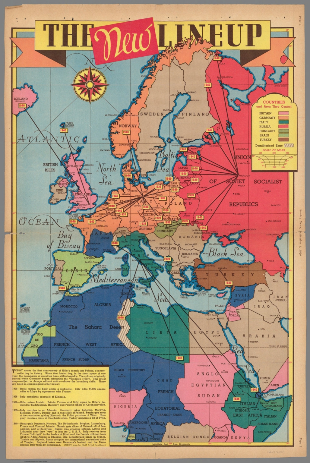 The New Lineup. September 1, 1940. - David Rumsey Historical Map ...