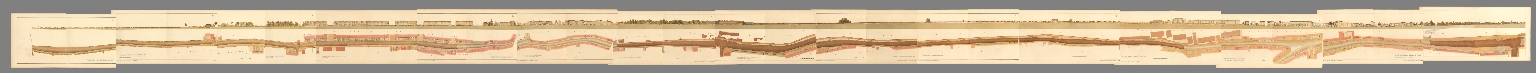 Composite: Sheets No. 1 - 15. Plan of the Road from Hyde Park Corner to Counter's Bridge.