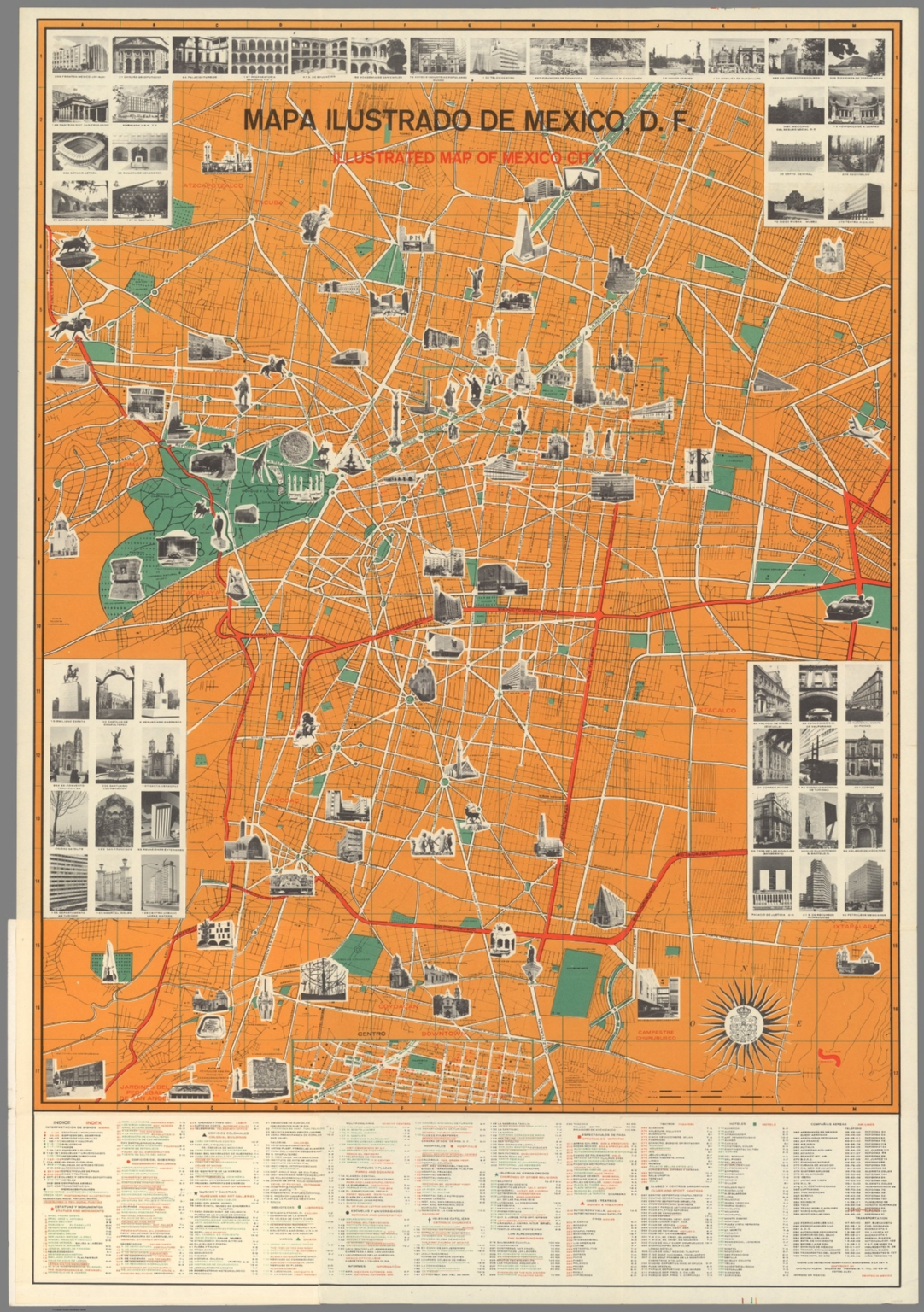 mapa illustrado de mexico df illustrated map of mexico city