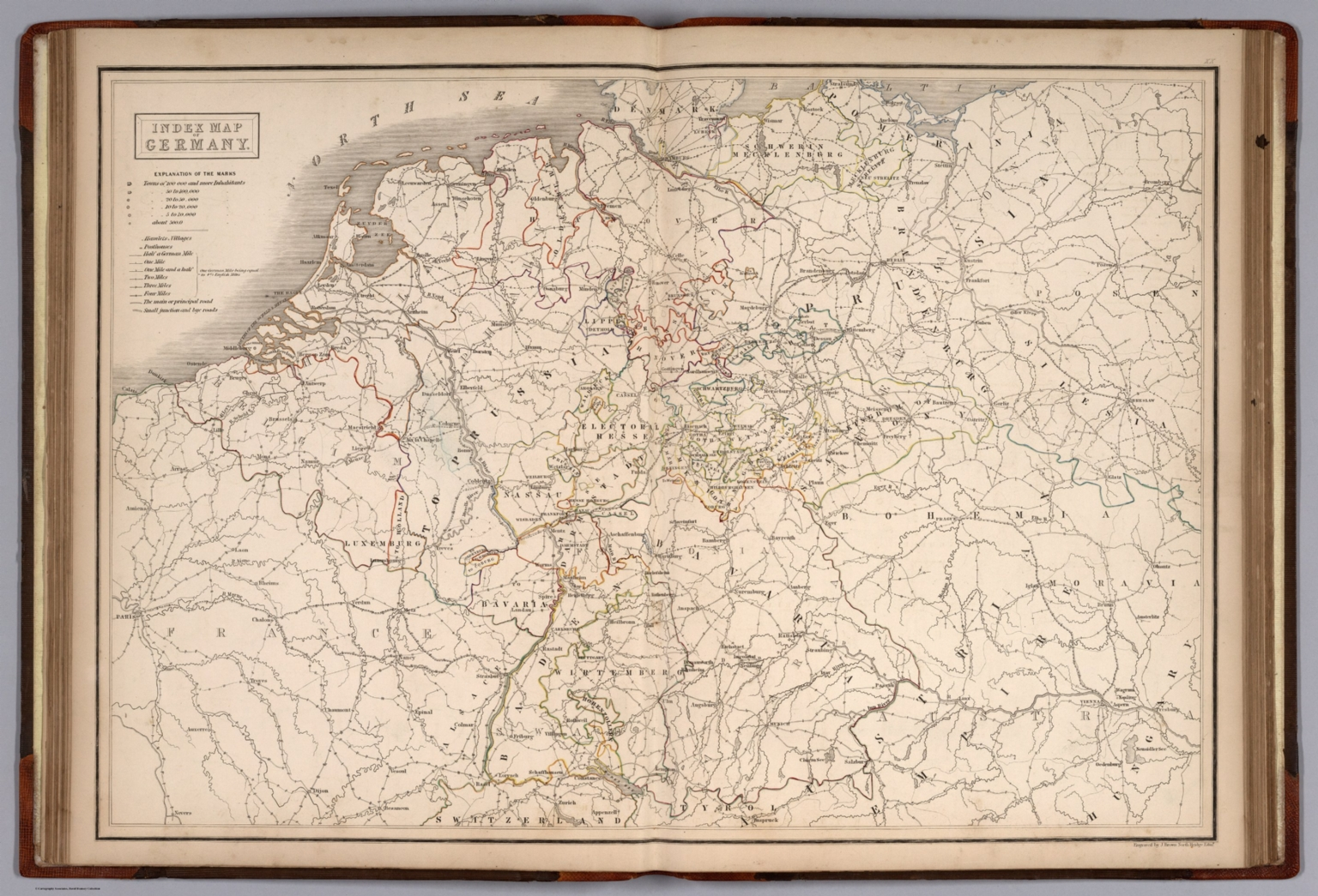 Index map of germany david rumsey historical map collection index map of germany gumiabroncs Image collections