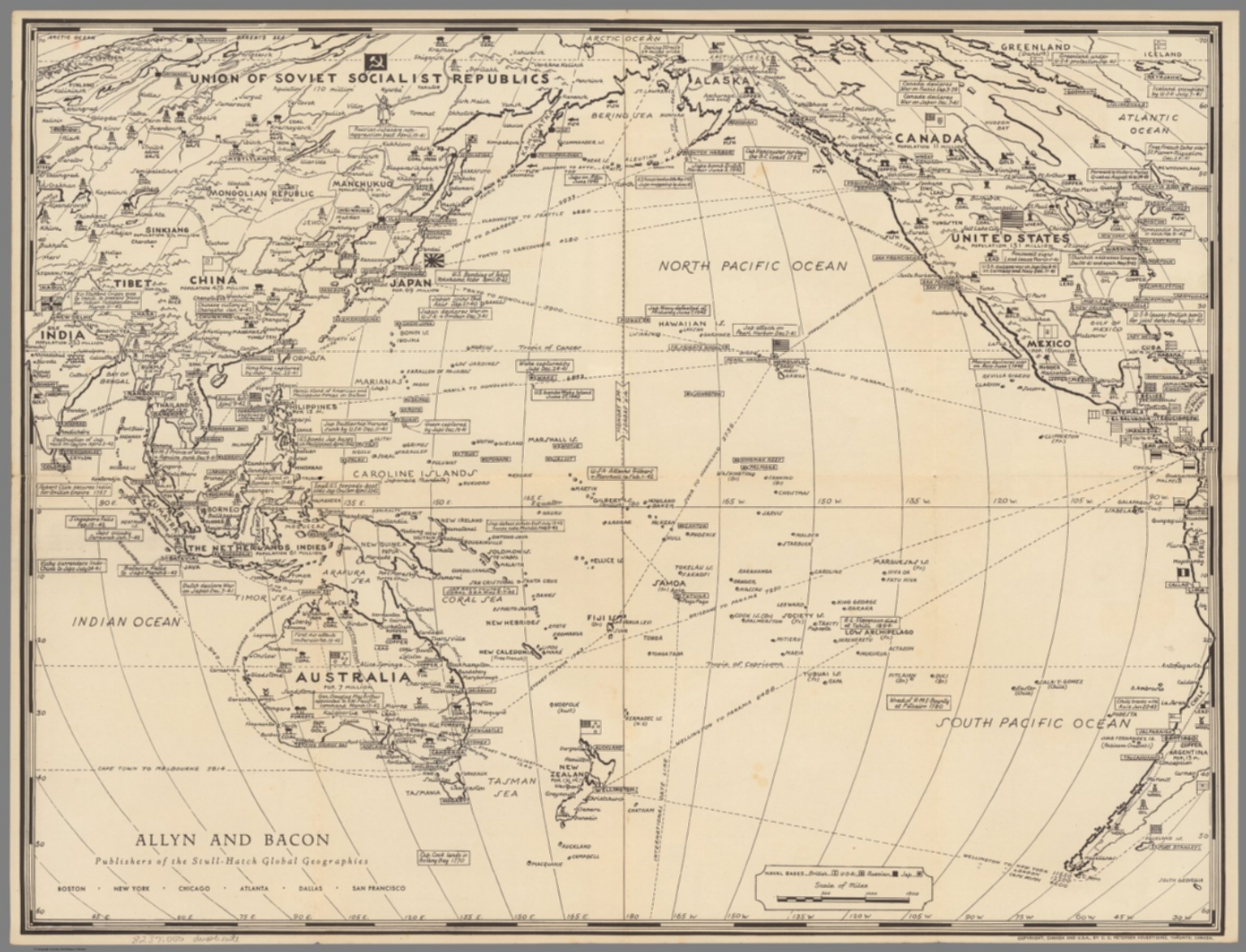 War map of Pacific Ocean area - David Rumsey Historical Map Collection
