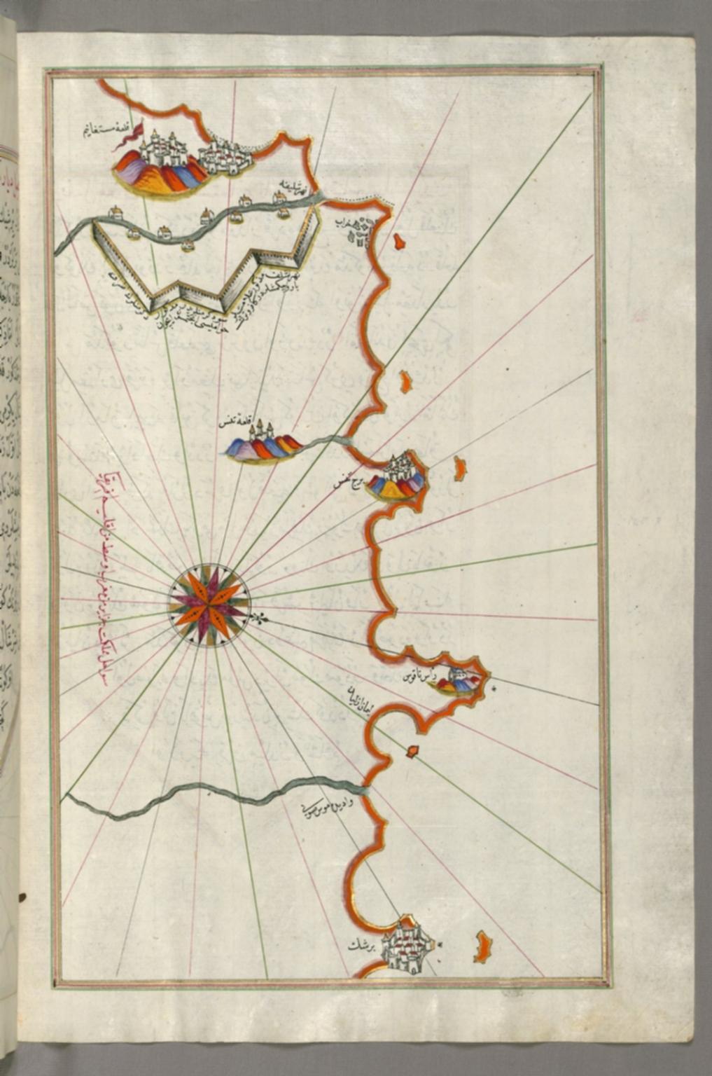 fol. 269b Algerian coastline around Mostaganem
