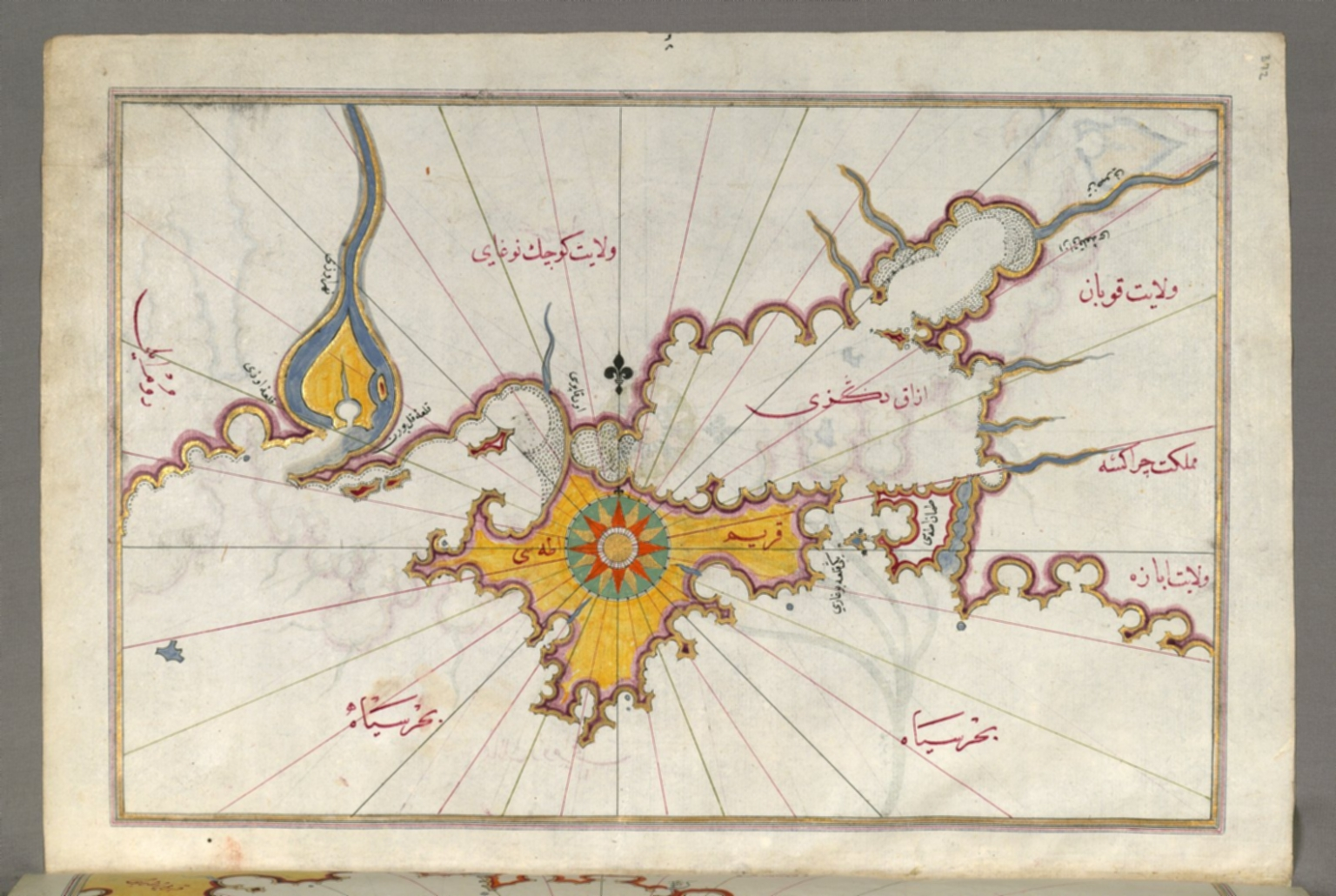 fol. 372a Crimea, Sea of Azov, and mouth of the Dnieper River ... Dnieper River Map on