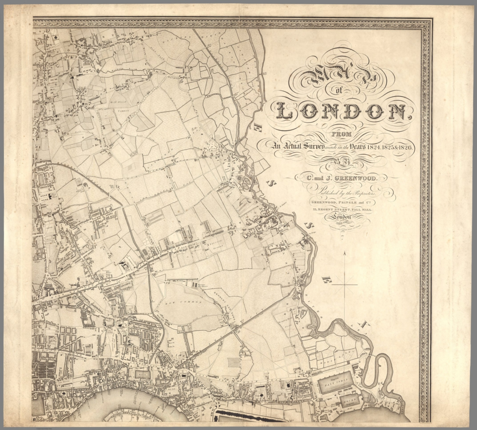 The Mall London Map.Sheet 3 Map Of London August 21 1827 David Rumsey Historical