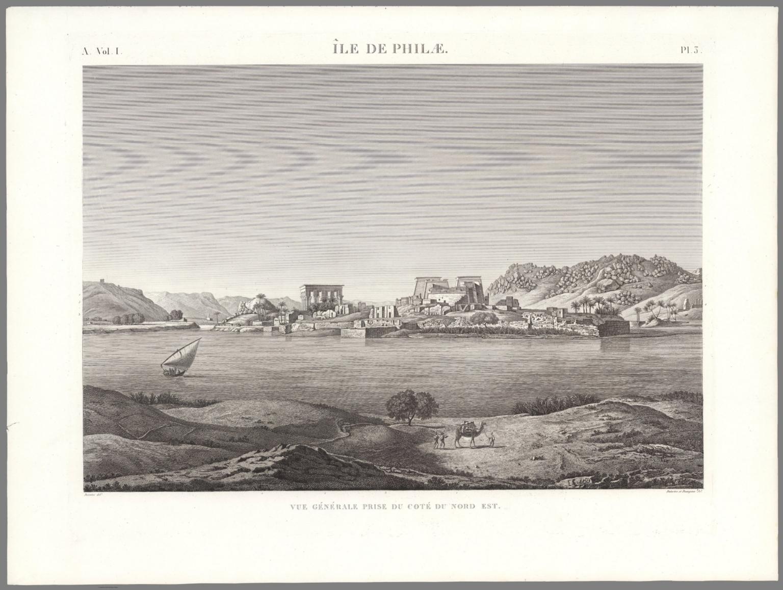 Planche 3, île de Philæ. Vue Générale Prise Du Coté Du Nord-Est.