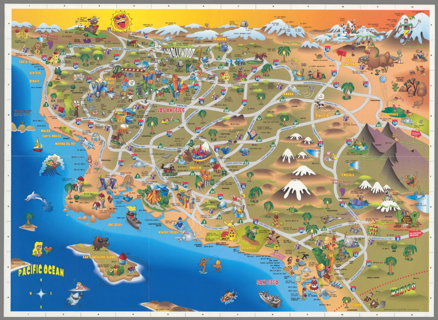 This is a picture of Printable Map of Southern California intended for west coast
