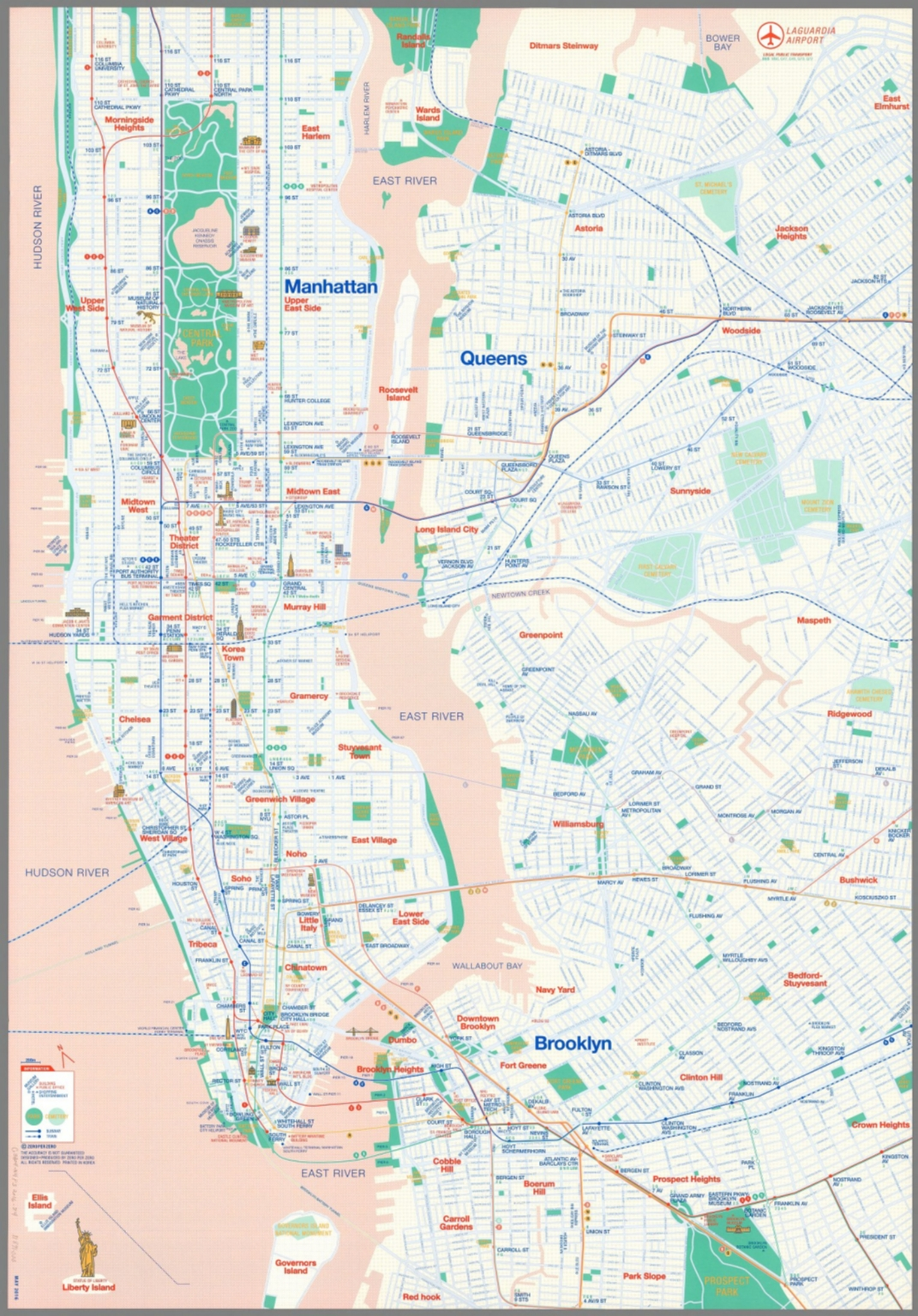 Map Of New York Rail System.Map Of New York City Railway And Subway System Map 2016 David