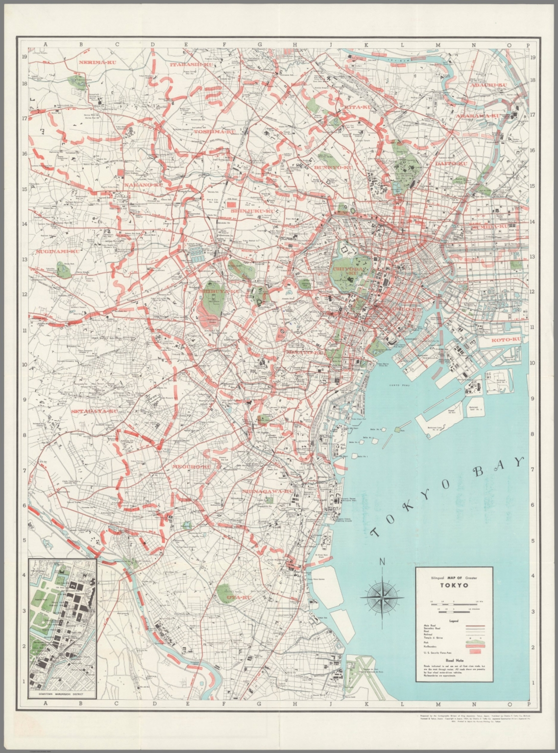 Bilingual Map Of Greater Tokyo David Rumsey Historical Map Collection