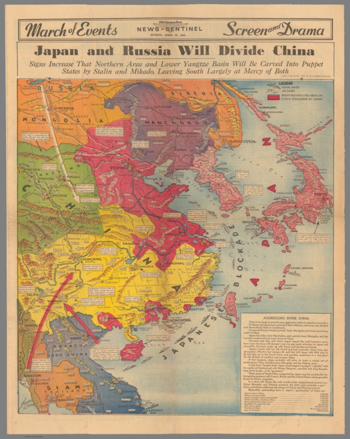 Japan and Russia Will Divide China