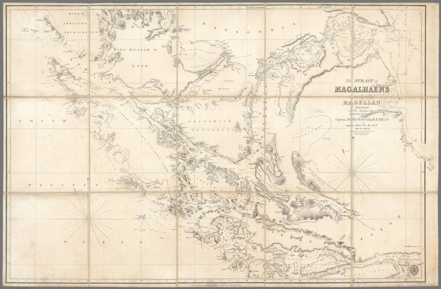 The Strait of Magalhaens commonly called Magellan