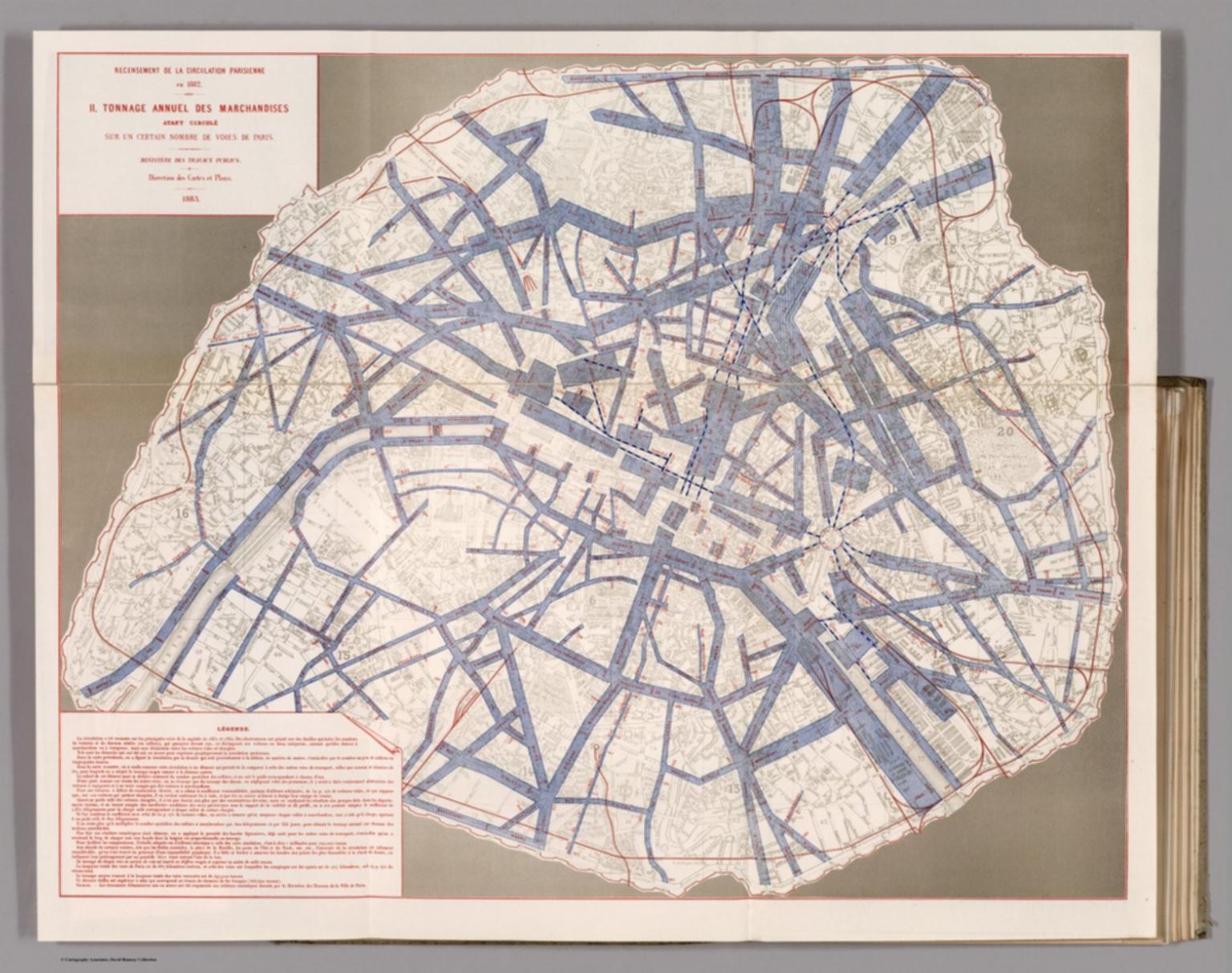 Recensement de la Circulation Parisienne en 1882. II. Tonnage Annuel des Marchandises.