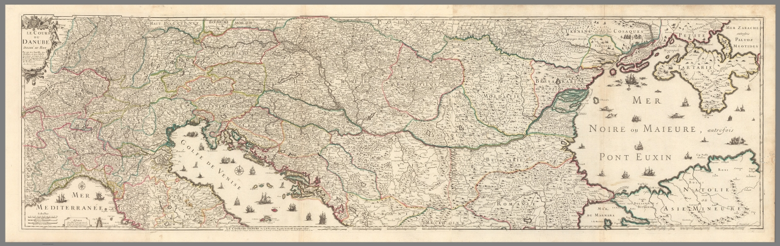 Compo Le course du Danube - David Rumsey Historical Map Collection on