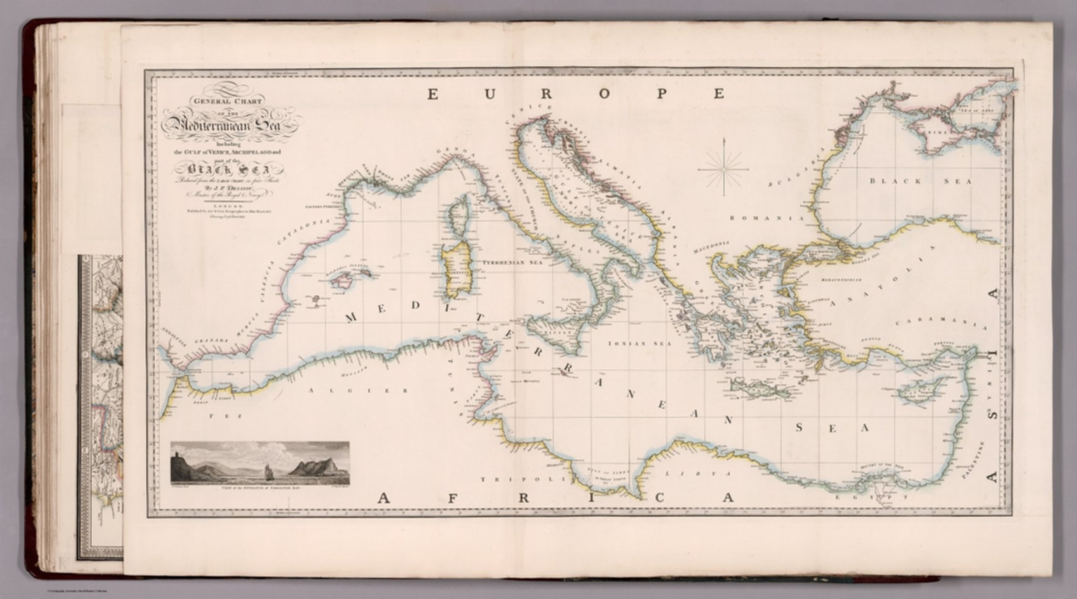 Image of: General Chart Of The Mediterranean Sea David Rumsey Historical Map Collection